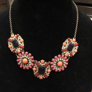 J. Crew Multi-Colored Stone and Crystal Necklace